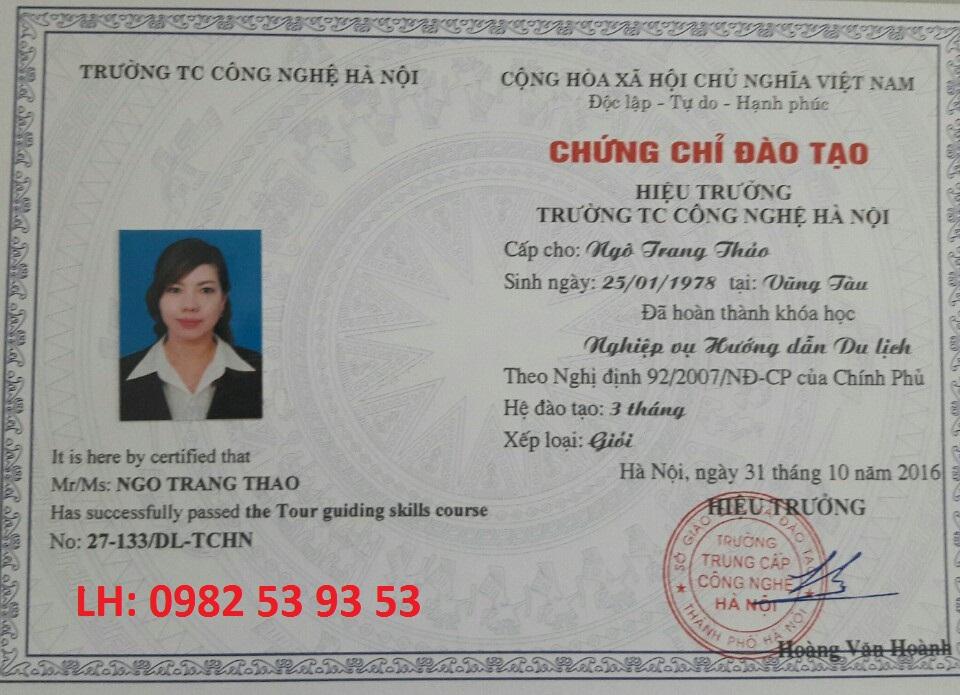 Chứng chỉ nghiệp vụ hướng dẫn viên du lịch hệ 3 tháng