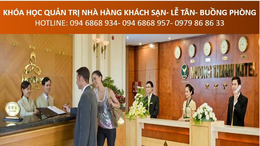 học quản lý nhà hàng khách sạn, đào tạo nhân viên lễ tân