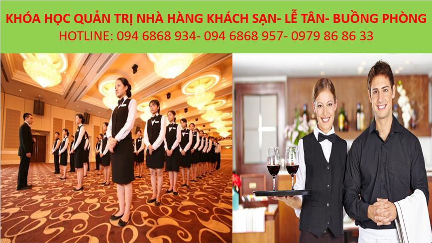 học quản trị nhà hàng khách sạn, đào tạo nghiệp vụ lễ tân