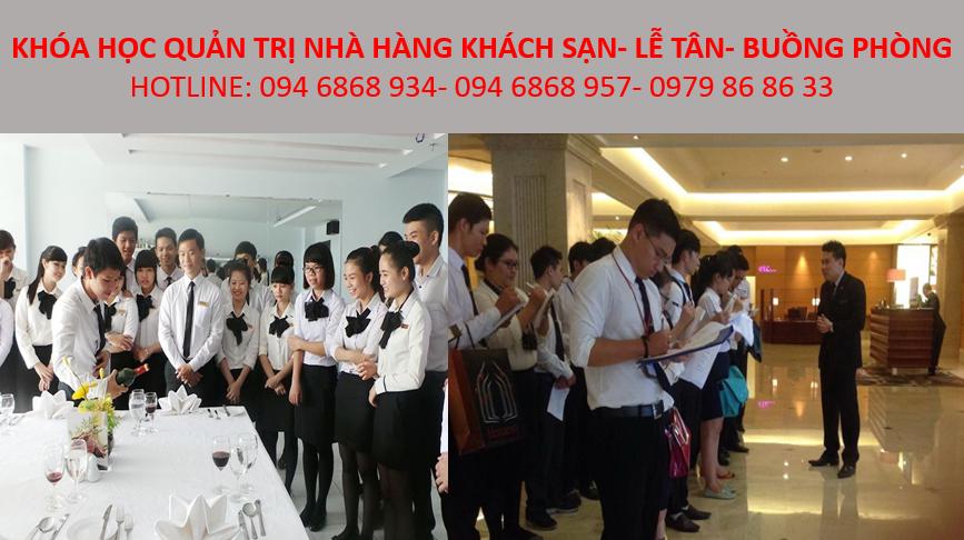học quản trị khách sạn, nghiệp vụ lễ tân nhà hàng - trung tâm đào tạo nghề chuyên nghiệp