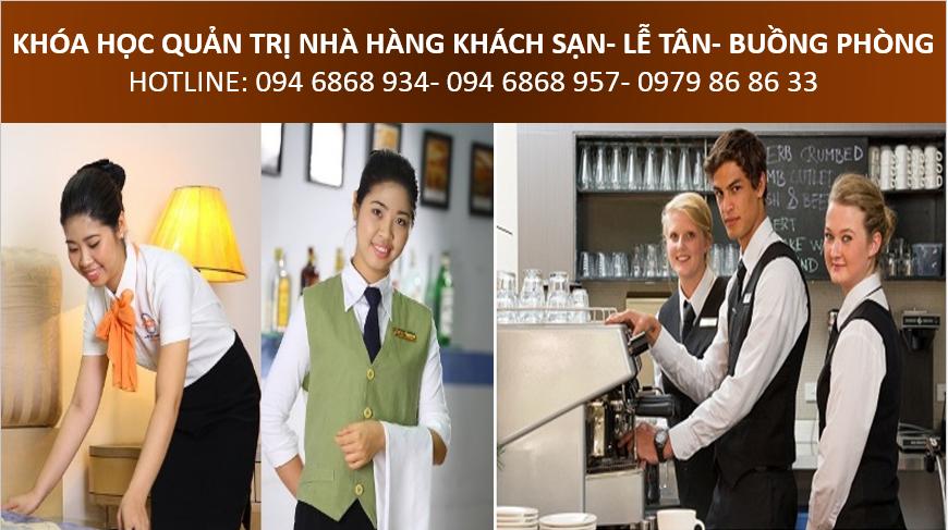học quản lý nhà hàng khách sạn, đào tạo nghiệp vụ lễ tân