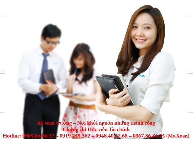 Học kế toán trưởng tại học viện tài chính