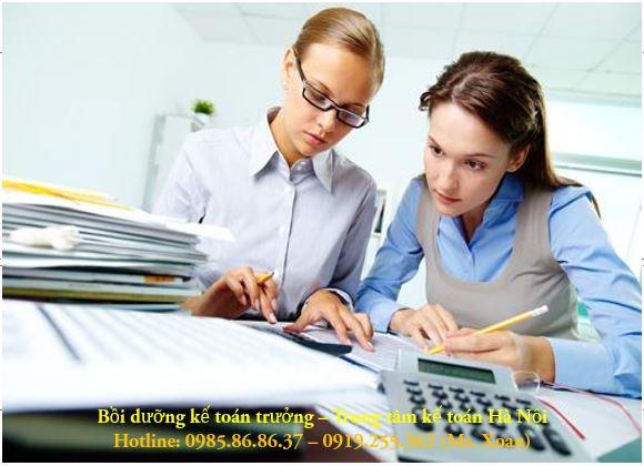 Học chứng chỉ kế toán trưởng