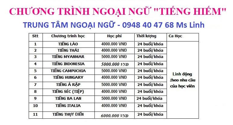 Khóa học tiếng Thái Lan tại Hà Nội - Trung tâm đào tạo uy tín nhất Hà Nội