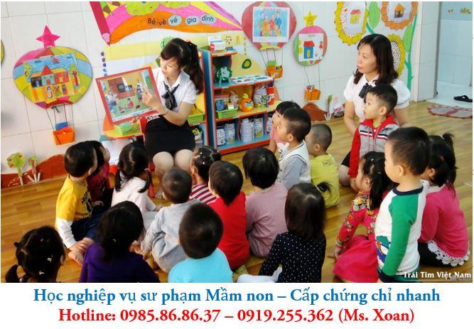 Học nghiệp vụ sư phạm mầm non - Liên tục mở các lớp NVSP mầm Non tại Hà Nội, tpHCM